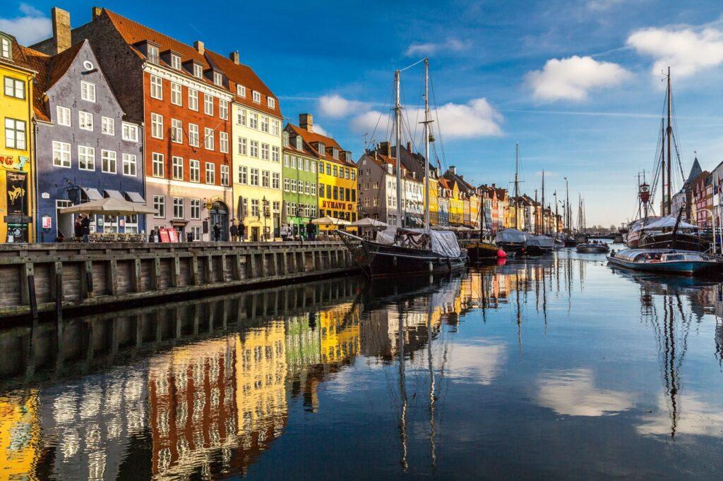 набережная Хьюхавн в Копенгагене