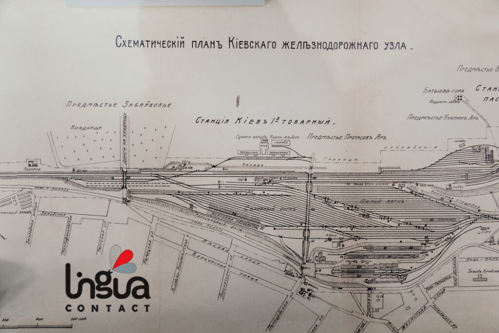 схематический план киевского железнодорожного узла