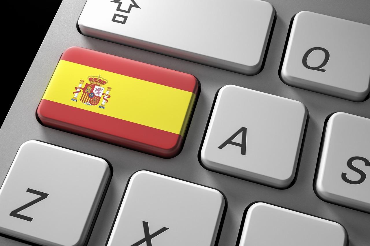 Клавиатура и флаг Испании