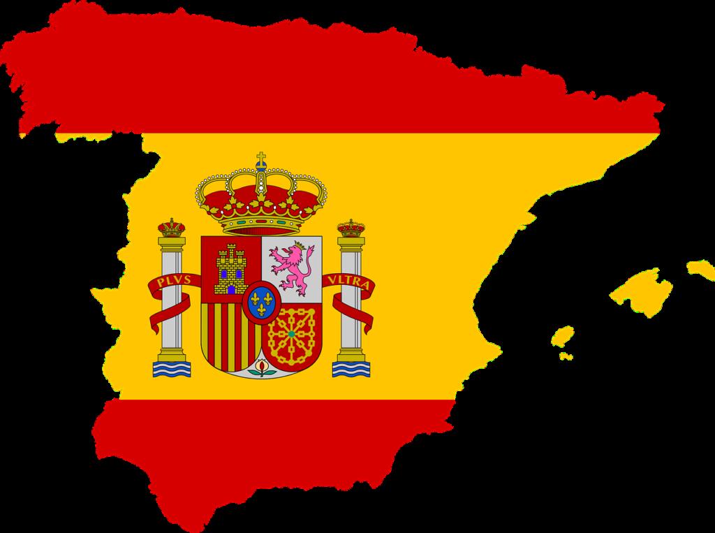 Испанский флаг в виде континента Испании